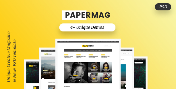 PaperMag & News PSD Template