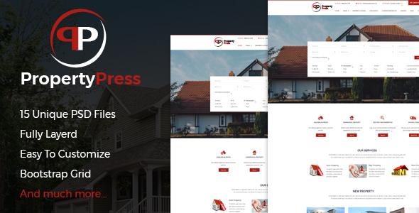 PropertyPress PSD Template