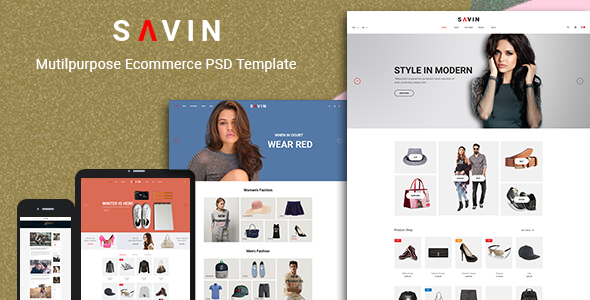 Savin - Fashion PSD Template