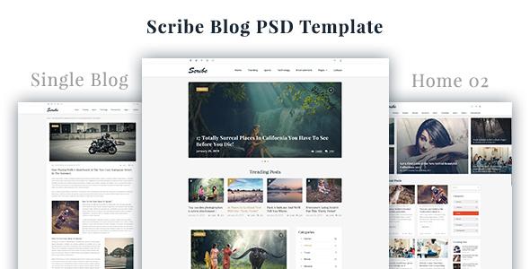 Scribe - Blog PSD Template