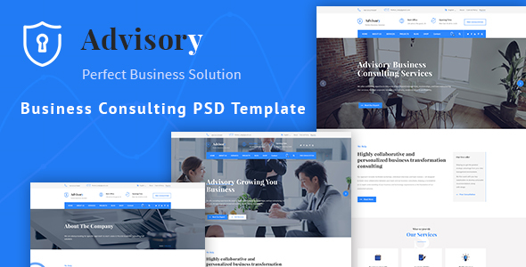 Advisory - Business, Consulting, Corporate PSD Template