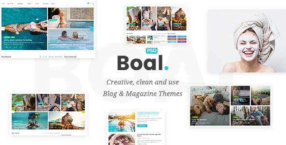 BOAL - Magazine & Personal Blog PSD Template