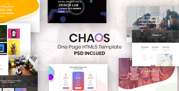 Chaos is One Page Creative Landing Template