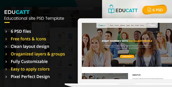 EduCatt - Educational Site PSD Template