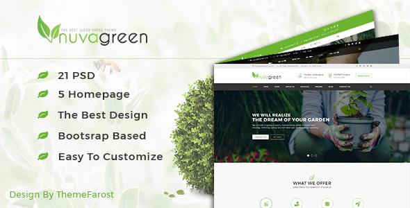 NuvaGreen - Landscape & Gardening PSD Template