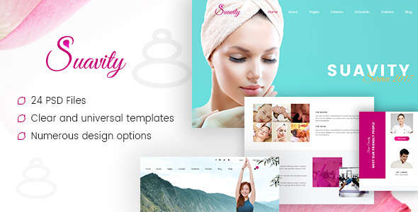 Suavity - Yoga & Spa PSD Template