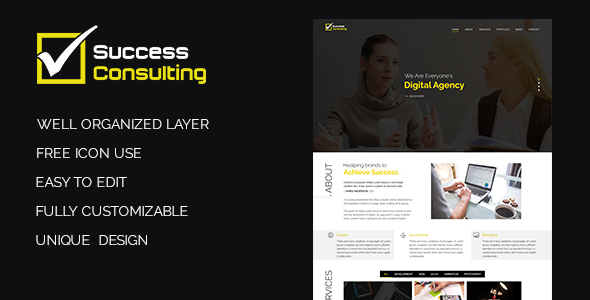 Success Consulting PSD Template