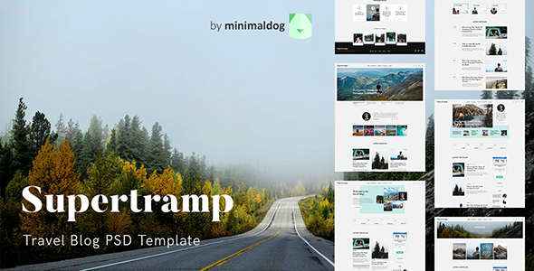 Supertramp - Travel Blog PSD Template
