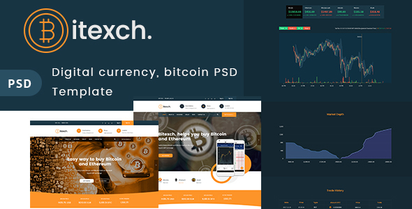 Digital Currency and Bitcoins PSD Template