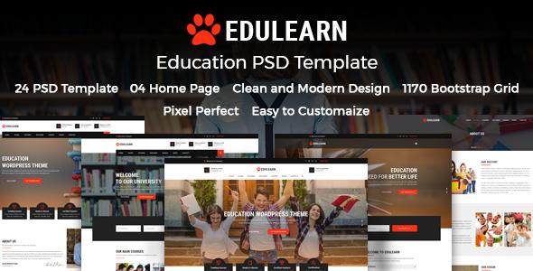 Edulearn Education - Education PSD Template