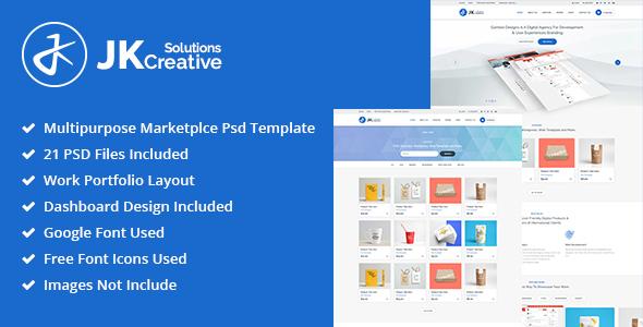 Portfolio - JK Creative Solutions PSD Template