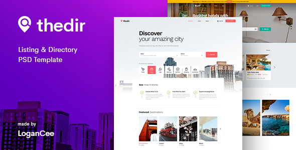 Thedir | Unlimited Listing & Directory PSD Template