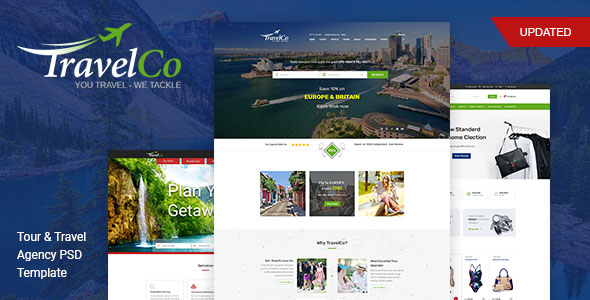 TravelCo - Tour Booking and Vocation PSD Template