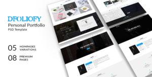 dFolioy - Personal Portfolio PSD Template
