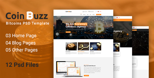 CoinBuzz - PSD Template
