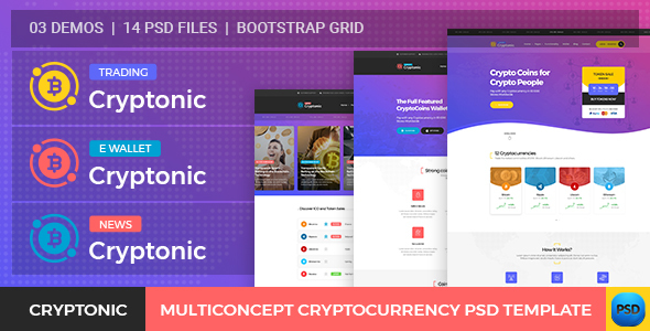 Cryptonic - Cryptocurrency PSD Template