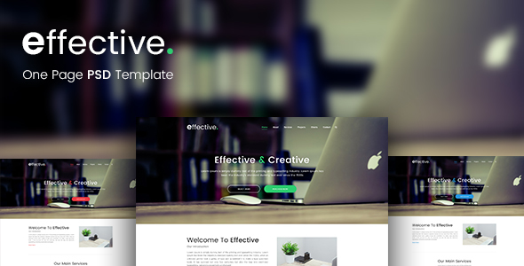 Effective - One Page PSD Template