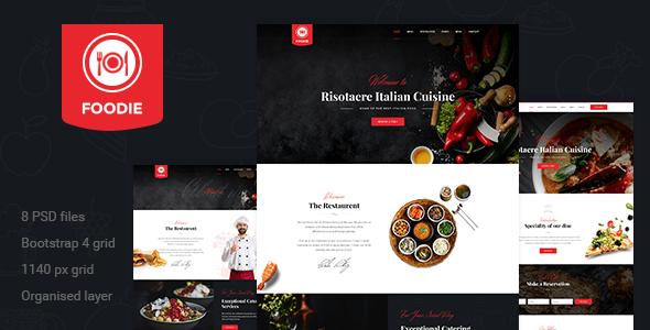 Foodie | Restaurent PSD Template