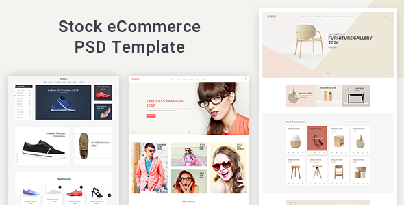 Stock - eCommerce PSD Template