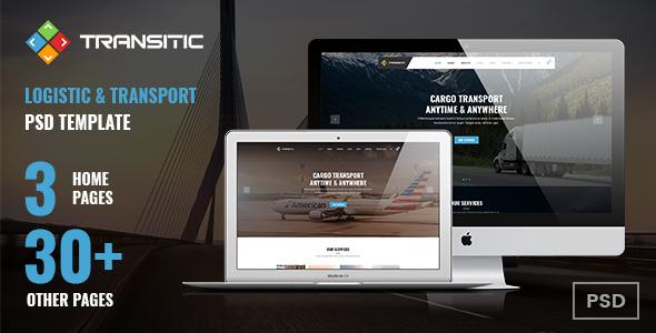 Transitic | Logistic & Transport PSD Template