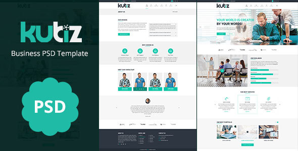 kubiz : Business / Finance PSD Template
