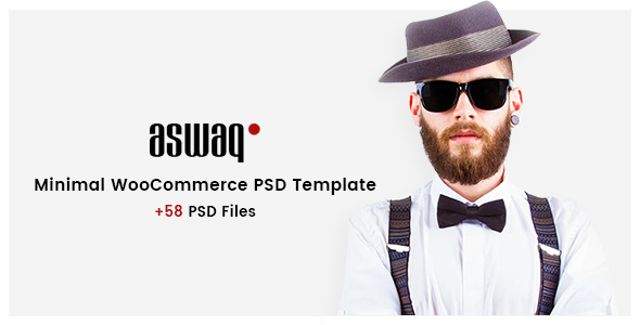 Aswaq - Minimal WooCommerce PSD Template