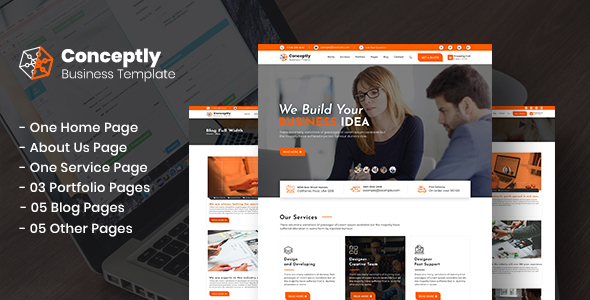 Conceptly - Business, Finance PSD Template