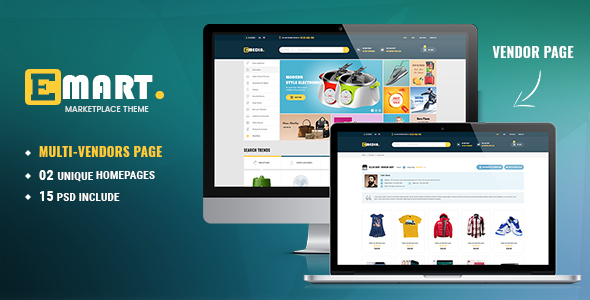 Emart - Ecommerce PSD Template