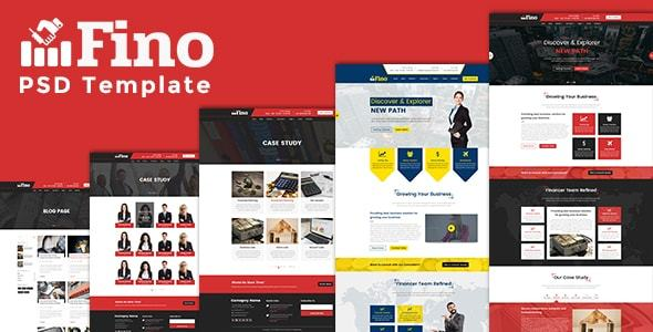 Fino - Consulting & Finance & Business PSD Template