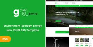 Goenviro - Environmental ,Energy, Non-Profit PSD Template