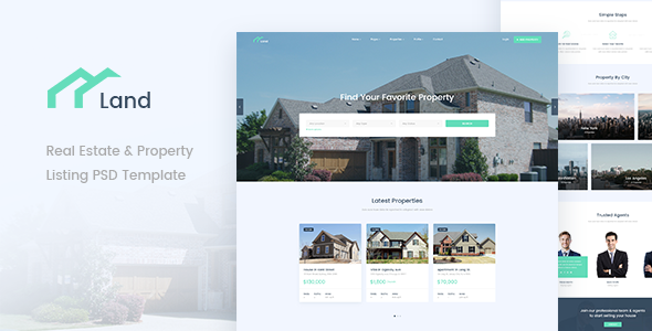 Land - Real Estate & Property Listing PSD Template