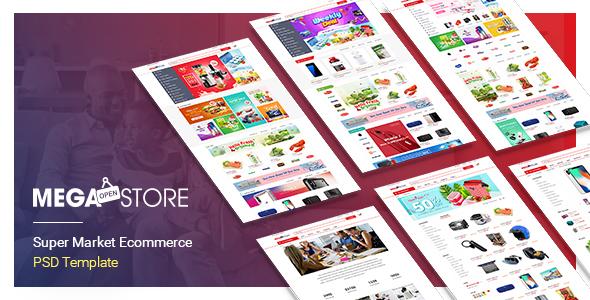 MegaStore – SuperMarket PSD Template