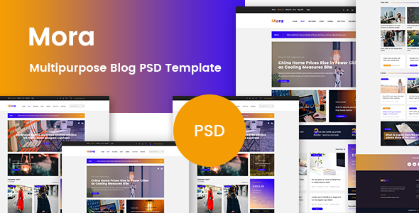 Mora - Multipurpose Blog PSD Template