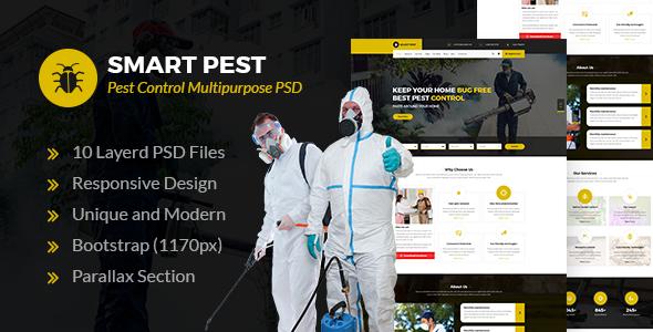Smart Pest - Pest Control Multipurpose PSD Template