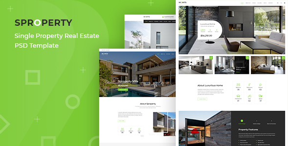 Sproperty - Single Property Real Estate PSD Template