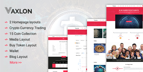 Vaxlon - Crypto Currency Template