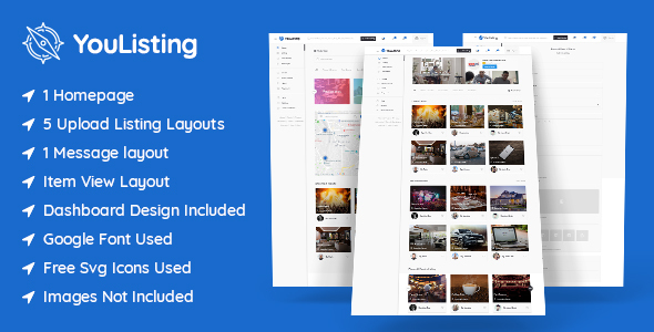 YouListing - Classified Listing and Directory Social Networking PSD Template