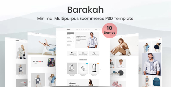 Barakah- Minimal Multipurpose E-commerce PSD Template