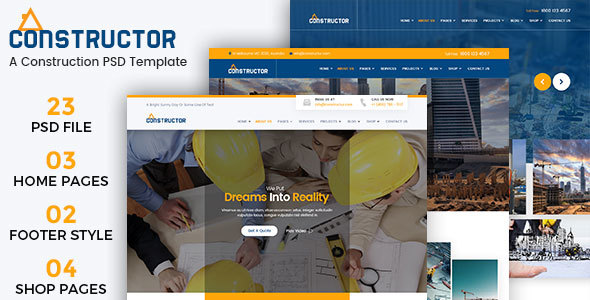 Constructor - A Construction Building PSD Template