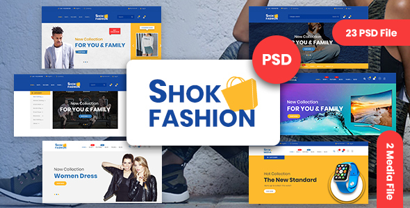 Fashion & Electronics eCommerce PSD Template