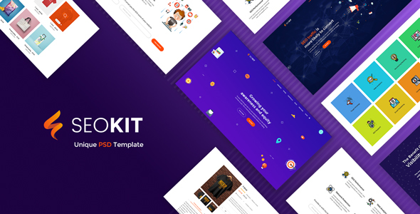 SEOKIT - Digital Marketing & SEO Agency PSD Template.