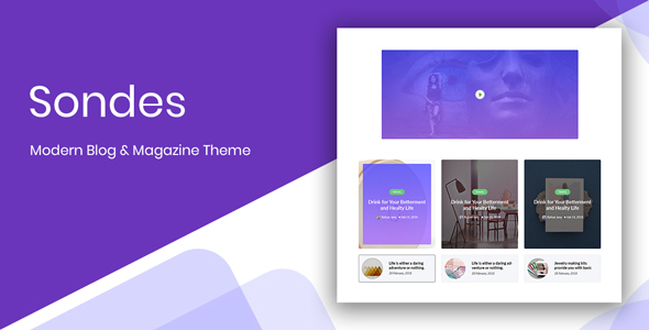 Sondes - Ultimate Blogging Solution PSD Design