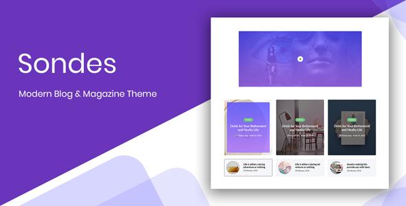 Sondes - Ultimate Blogging Solution PSD Design