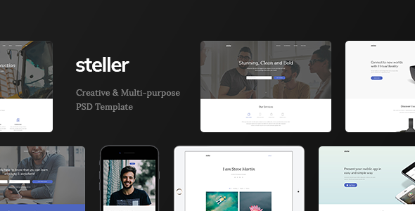 Steller - Marketing Landing Page PSD Template