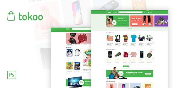 Tokoo - Electronics eCommerce PSD