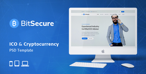BitSecure - ICO & Cryptocurrency PSD Template