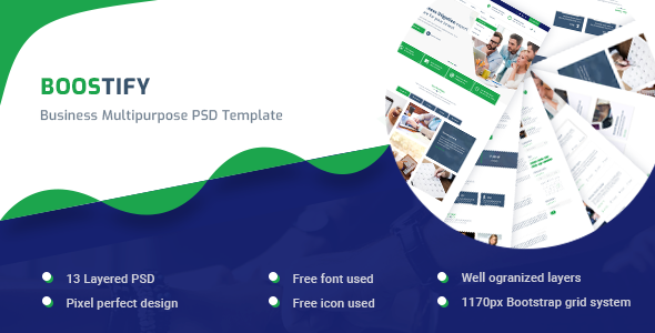 Boostify - Business Multipurpose PSD template