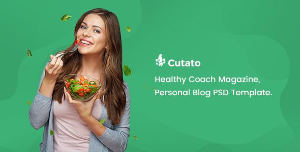 CUTATO - Healthy Magazine PSD Template