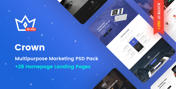 Crown - Multipurpose Marketing PSD Landing Page Pack