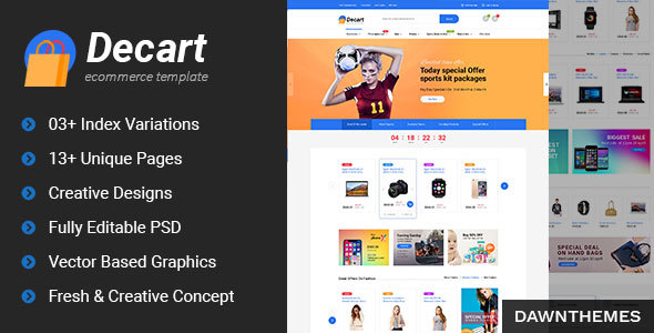 Decart - eCommerce PSD Template